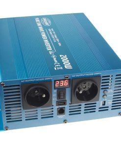 Sínusový menič napätia 24V na 230V, 1500W CARCLEVER 35psw2012D