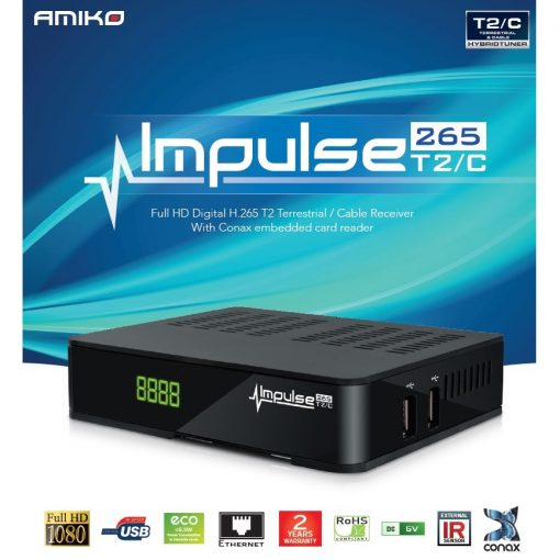 Plustelka Amiko Impulse H.265 DVB-T/T2/C