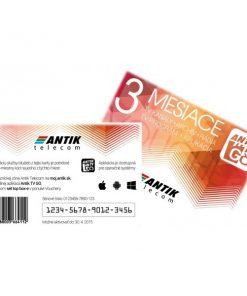 ANTIK TV GO voucher 3 mesiace mobilna televizia