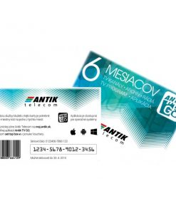 ANTIK TV GO voucher 6 mesiacov mobilna televizia
